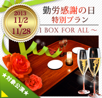 LABOR THANKSGIVING DAY ~1 BOX for ALL~(2013.11/2-11/28)